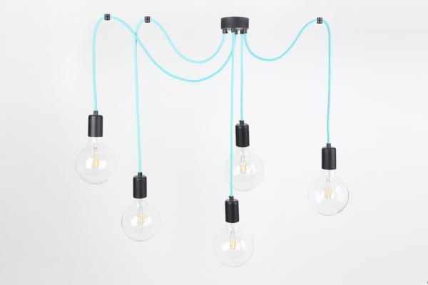 nowoczesna wisząca lampa pająk CableFIVE